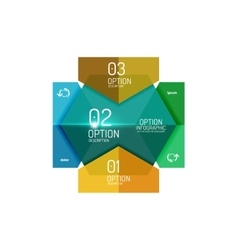 Paper business option button infographic templates vector image
