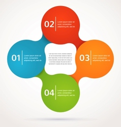 Abstract design and infographics background icon vector