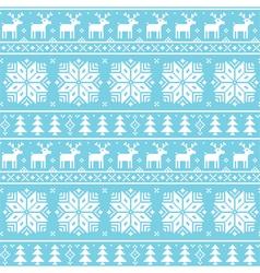 Christmas nordic seamless pattern - deer vector image