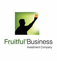 fruitful business logo vector image