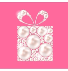 Beauty Pearl Gift Background vector image