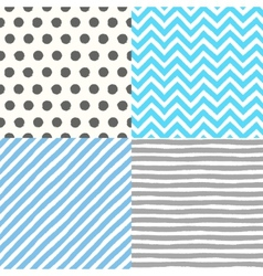 Seamless geometric patterns set vector