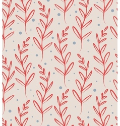 Floral seamless pattern with leaves vector