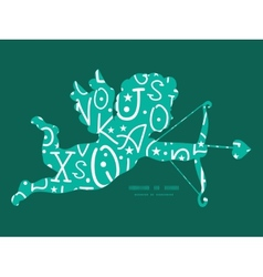 White on green alphabet letters shooting cupid vector