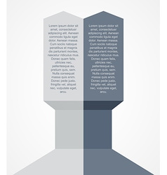 Modern arrow infographics element vector image