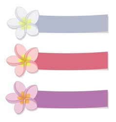 Set of colored banners with flowers vector