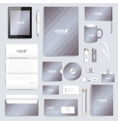 Grey set of corporate identity template vector