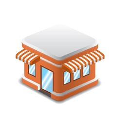 Orange shopping store vector