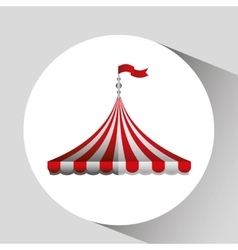 Circus tent isolated icon design vector