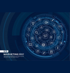 Abstract marketing and seo background digital vector