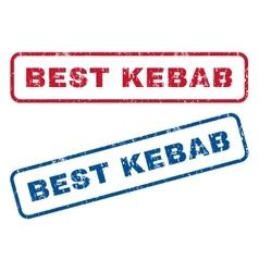 Best Kebab Rubber Stamps vector image vector image