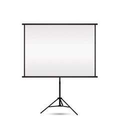 blank projection screen with copy space vector image