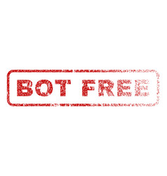 Bot free rubber stamp vector