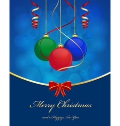 christmas ball background vector image vector image