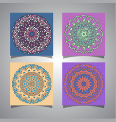 Collection of mandala designs vector
