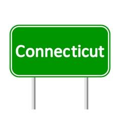Connecticut green road sign vector