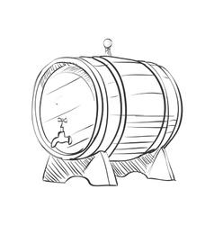 doodle barrel vector image vector image