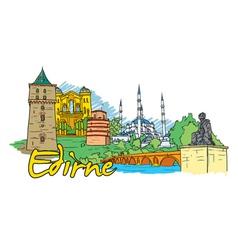 edirne doodles vector image