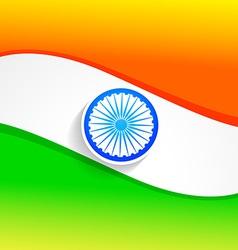 elegant indian flag vector image vector image