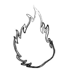 Fire burn silhouette vector