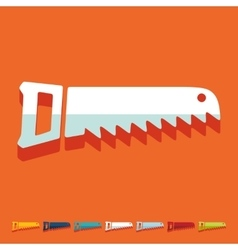 Flat design hand saw vector