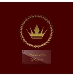 Golden crown symbol vector