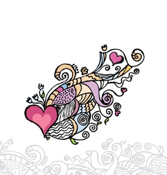 heart of love doodle layers are separated vector image vector image