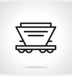 hopper car simple line icon vector image