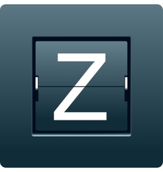 Letter Z from mechanical scoreboard vector image vector image
