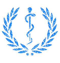 Medical honor laurel wreath grunge icon vector