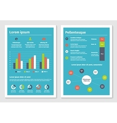Modern business infographic brochure template 2 vector image vector image