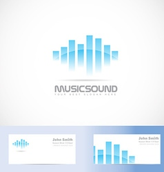 Music sound volume logo vector