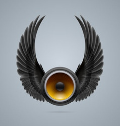 Music speaker with two wings vector image