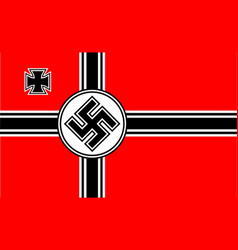 Nazi flag vector