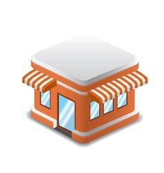 orange shopping store vector image