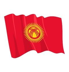 Political waving flag of kyrgyzstan vector