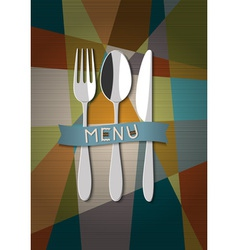Restaurant card menu design vector image