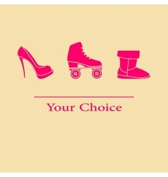 set your choice of footwear vector image vector image