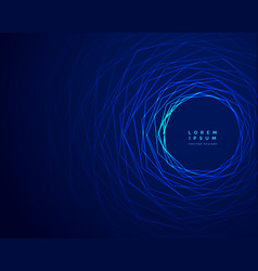 Technology tunnel blue lines background design vector