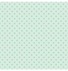 Tile mint green polka dots pattern or background vector image vector image