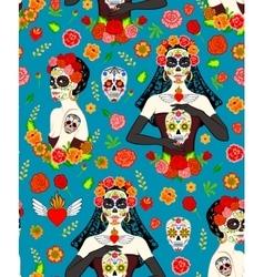 Women Dia Los Muertos vector image