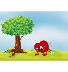 heart and a tree vector image