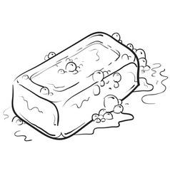 Doodle soap clean vector