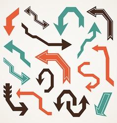 Arrow retro vector image