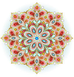Mandala brooch jewelry design element vector
