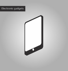 Black and white style icon mobile phone vector