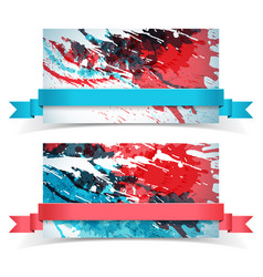 Abstract paints banner set vector
