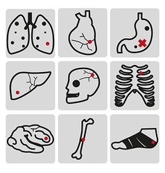 Disease outline vector