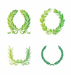 Ornate wreath set vector
