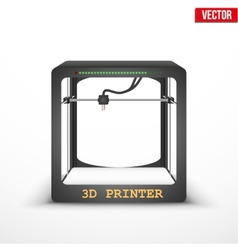 Electronic three dimensional plastic 3d printer vector